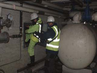 The Kerosene was held in stainless steel tanks and vandels tried to remove the pipe work connected to them due to the high price of scrap metal, thus causing the spillage