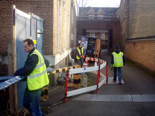 Engineers preparing to allow pumps and tankers to work safely