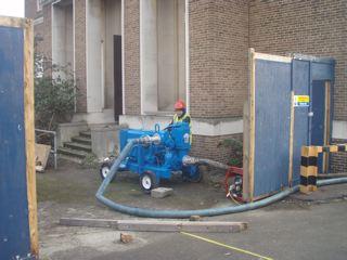 Engineer checking pressure